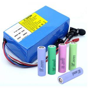 Pin Lithium 18650 48V 12AH 48V 500W Pin xe đạp điện với BMS