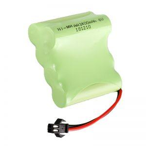 Pin sạc NiMH AA2400 6V Dụng cụ đồ chơi điện có thể sạc lại Bộ pin