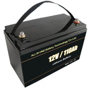 Thay thế axit chì pin lưu trữ năng lượng mặt trời 12V 110Ah lifepo4 pin lithium