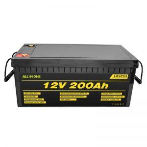 Xe ô tô điện có thể tùy chỉnh 12V Pin Lifepo4 12,8v 200ah với 2000 vòng đời Pin lifepo4