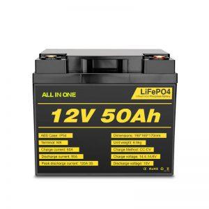 Bộ pin Lifepo4 có chu kỳ sạc sâu 12V 50Ah có thể sạc lại cho hệ thống điện