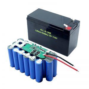 TẤT CẢ TRONG MỘT Pin Lithium 18650 3S5P 12Volt 11Ah Bộ pin Lithium có thể sạc lại