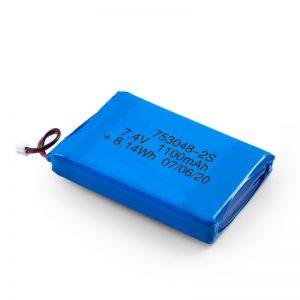 Pin sạc LiPO 753048 3.7V 1100mAh / 7.4V 1100mAH / 3.7V 2200mAH