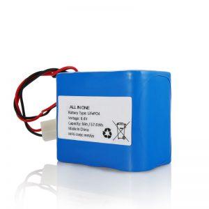 6.4V 12Ah LiFePO4 Sạc lại Gói pin Lithium 26650 32650 với đầu nối cho ánh sáng mặt trời