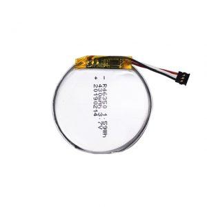 Pin tùy chỉnh LiPO 46350 3.7V 350mAH pin đồng hồ thông minh 46350 pin lithium polymer tròn phẳng nhỏ cho đồ chơi